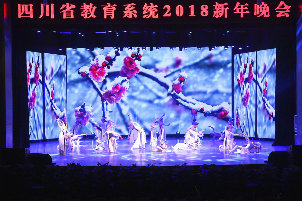 四川省教育系统2018年迎新晚会在西华大学举行图片